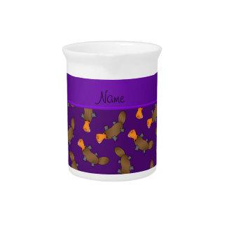 Modelo púrpura conocido personalizado del platypus jarrones
