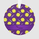 Modelo púrpura conocido personalizado del softball