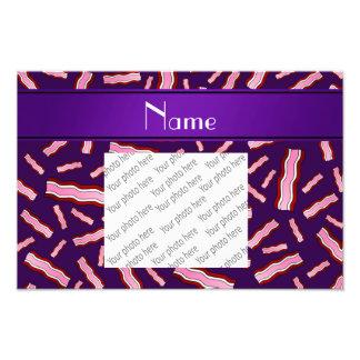 Modelo púrpura conocido personalizado del tocino
