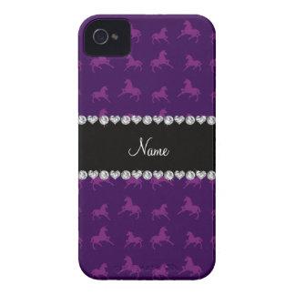 Modelo púrpura conocido personalizado del unicorni iPhone 4 Case-Mate cárcasas
