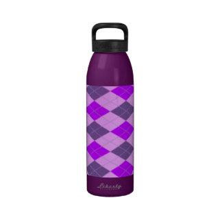 Modelo púrpura de Argyle Botella De Agua