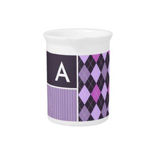 Modelo púrpura de Argyle Jarras