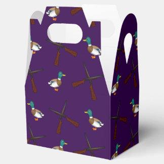 modelo púrpura de la caza del pato cajas para regalos