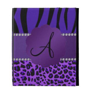 Modelo púrpura de la cebra del leopardo del monogr