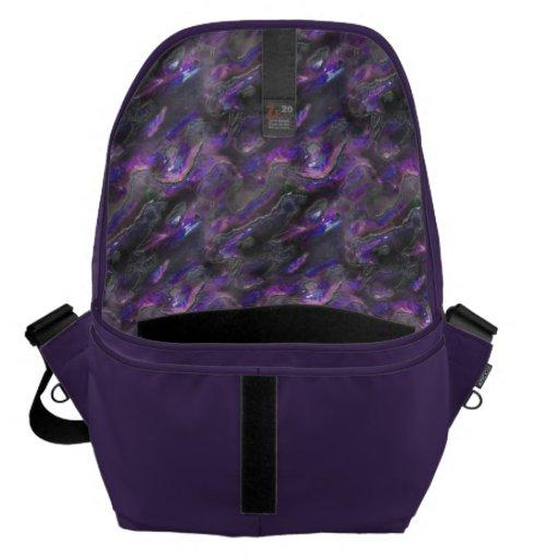 Modelo púrpura de la foto de la textura nacarada bolsas de mensajería
