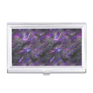Modelo púrpura de la foto de la textura nacarada caja de tarjetas de visita