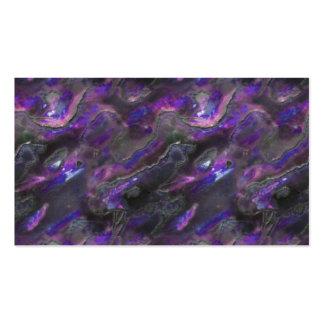 Modelo púrpura de la foto de la textura nacarada tarjetas de visita