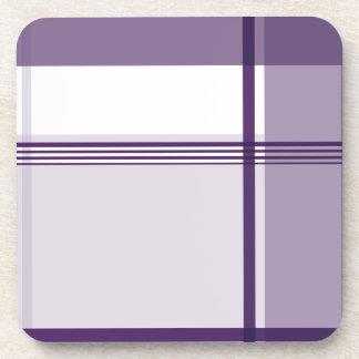 Modelo púrpura de la franela posavaso