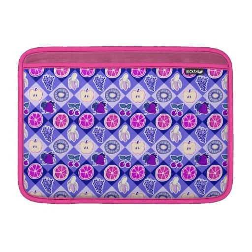 Modelo púrpura de la fruta de Argyle Fundas Para Macbook Air