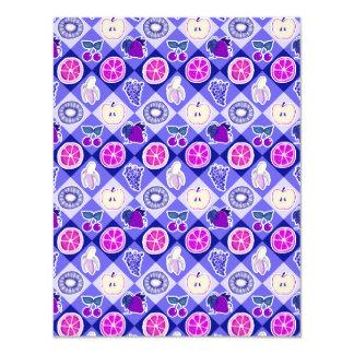 "Modelo púrpura de la fruta de Argyle Invitación 4.25"" X 5.5"""