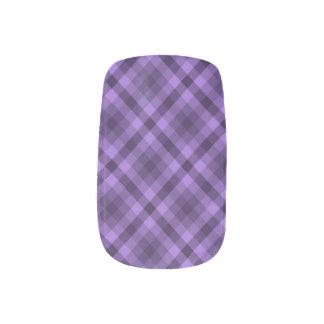 Modelo púrpura de la guinga pegatinas para uñas