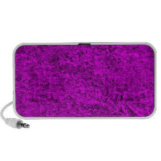 Modelo púrpura de la hierba laptop altavoces