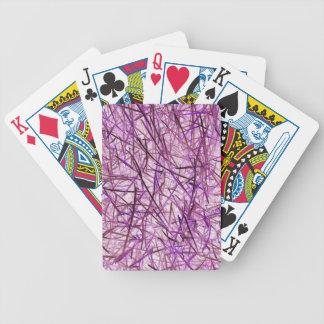 Modelo púrpura de la hierba baraja de cartas