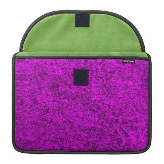 Modelo púrpura de la hierba fundas para macbook pro