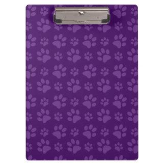 Modelo púrpura de la impresión de la pata del perr