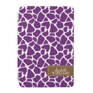 Modelo púrpura de la jirafa personalizado cubierta de iPad mini