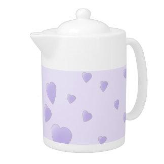 Modelo púrpura de la lila de los corazones del amo