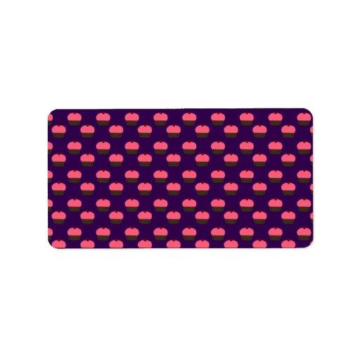 Modelo púrpura de la magdalena etiquetas de dirección