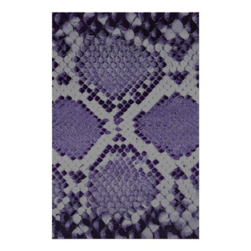 Modelo púrpura de la piel de serpiente personalized stationery