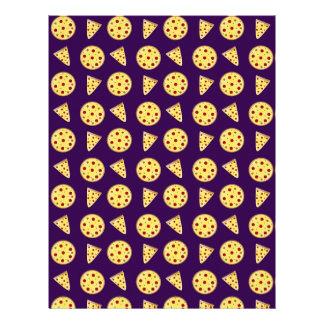 Modelo púrpura de la pizza plantilla de membrete