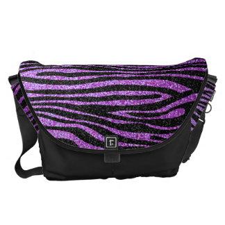 Modelo púrpura de la raya de la cebra (falso bolsas de mensajeria