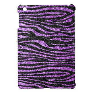 Modelo púrpura de la raya de la cebra (falso brill iPad mini cárcasa