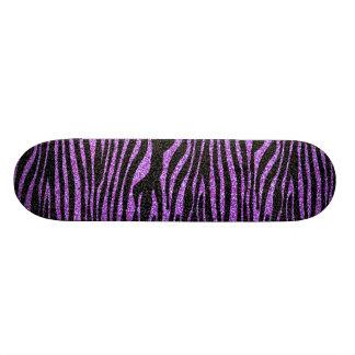 Modelo púrpura de la raya de la cebra (falso brill patines