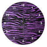 Modelo púrpura de la raya de la cebra (falso brill relojes