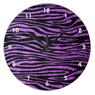 Modelo púrpura de la raya de la cebra falso brill relojes