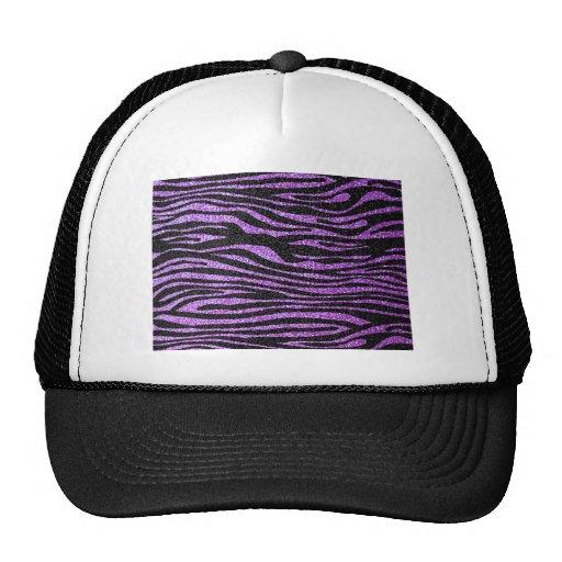 Modelo púrpura de la raya de la cebra (falso gorra
