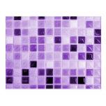 Modelo púrpura de la teja tarjeta postal