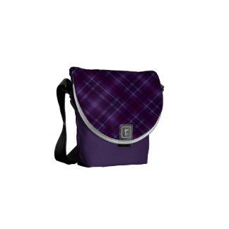 Modelo púrpura de la tela escocesa de tartán bolsa de mensajería