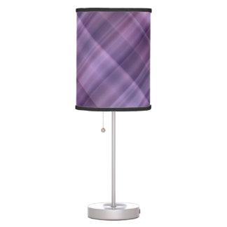 Modelo púrpura de la tela escocesa lámpara de escritorio