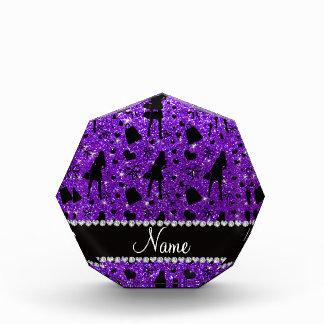 Modelo púrpura de las compras del brillo del añil
