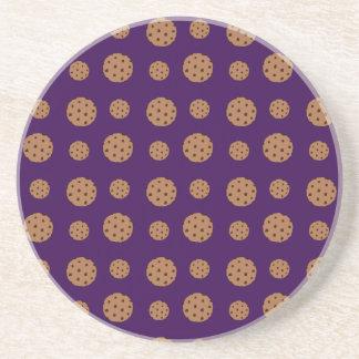 Modelo púrpura de las galletas de microprocesador  posavasos diseño