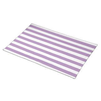 Modelo púrpura de las rayas de la violeta africana mantel individual