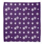 Modelo púrpura de los copos de nieve del navidad