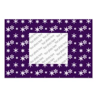 Modelo púrpura de los copos de nieve del navidad fotografías