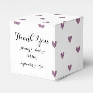 Modelo púrpura de los corazones del brillo del cajas para regalos de fiestas