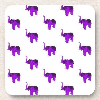 Modelo púrpura de los elefantes posavaso