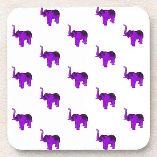 Modelo púrpura de los elefantes posavasos