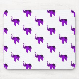 Modelo púrpura de los elefantes tapetes de raton