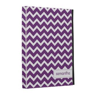 Modelo púrpura de los galones del zigzag
