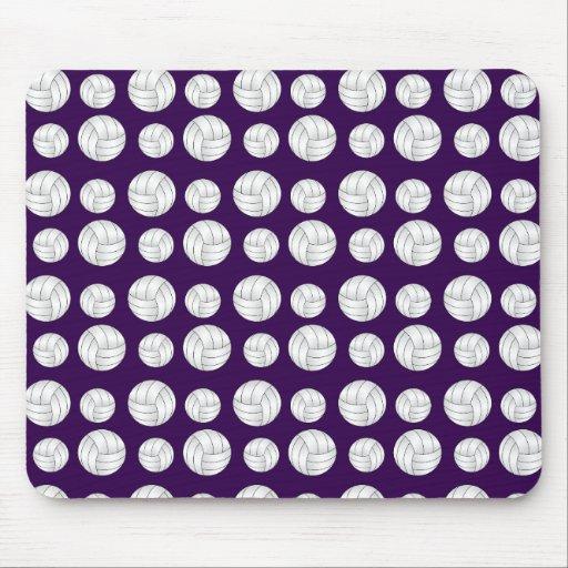 Modelo púrpura de los voleiboles tapetes de ratones