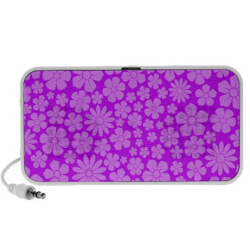 Modelo púrpura de los Wildflowers PC Altavoces