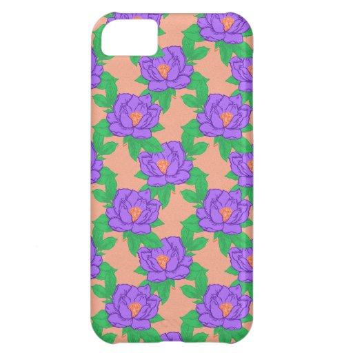 Modelo púrpura de Lotus Funda Para iPhone 5C