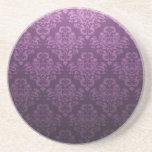 Modelo púrpura de lujo del damasco del Victorian Posavasos Cerveza