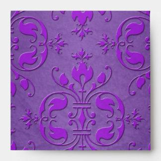 Modelo púrpura de lujo del damasco