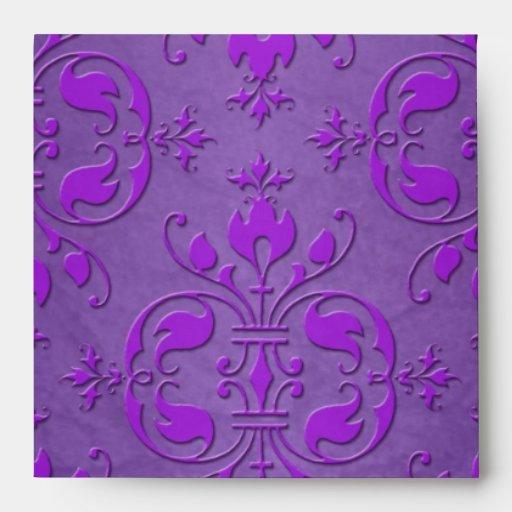 Modelo púrpura de lujo del damasco sobre