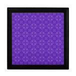 Modelo púrpura de moda del círculo cajas de joyas